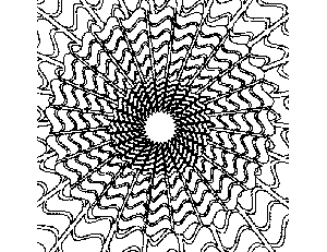 Abstract Coloring Pages on Abstract Sun Coloring Page