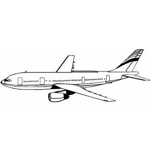 Airplane Coloring Sheets On A300 Plane Page