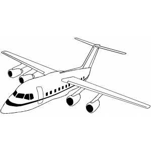 Airplane Coloring Sheets on Flying Plane Coloring Page