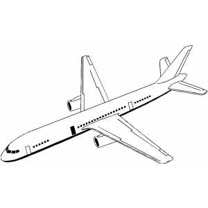 Airplane Coloring Sheets On Jet Plane Page