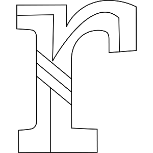 Alphabet Coloring on Lowercase R Coloring Page