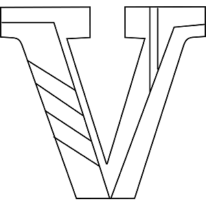 Lowercase V Coloring Page