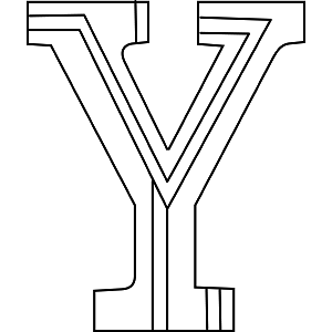 uppercase y col... Y Coloring Pages