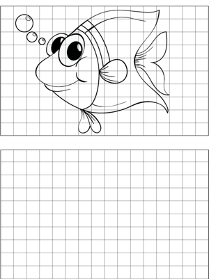 big eyed fish drawing coloring page. Black Bedroom Furniture Sets. Home Design Ideas