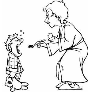 Medicine doctor coloring pages coloring pages for Mom and child coloring pages