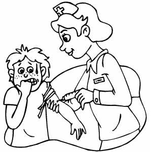 Doctor And Nurse Coloring Page