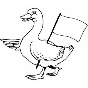 Canada Goose And Gosling Coloring Pages