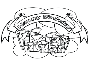 Birthday Banner coloring page