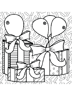 birthday presents coloring pages - photo#20