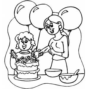 Cake Decorating With Coloring Book Pages : Decorating Cake Coloring Page