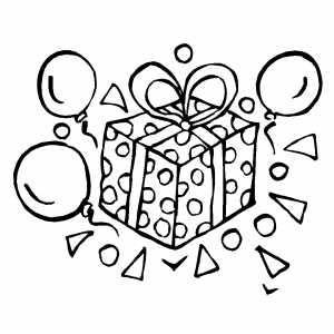 Pics For Gt Happy Birthday Balloon Coloring Pages