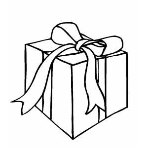 birthday present coloring page - gift for someone coloring page