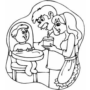 free first birthday coloring pages - photo#25