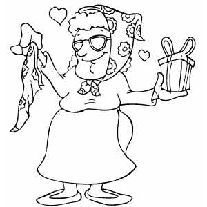 Old lady coloring pages coloring pages for Old lady coloring page