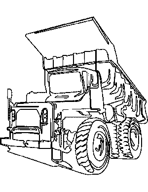 dump truck coloring pages - big dump truck coloring page