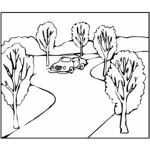 free coloring pages road - photo#4