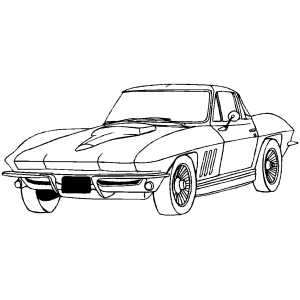 free coloring pages cars and trucks | Corvette Coloring Page