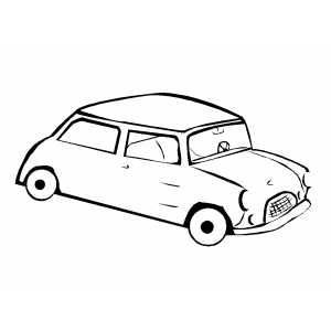 free cars cartoon coloring pages | England Cartoon Coloring Page