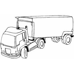 Semi coloring page for Semi truck coloring pages