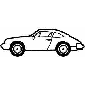 Sport Cars on Sport Two Doors Car Coloring Page