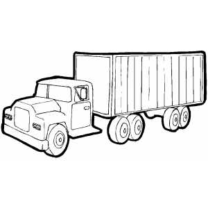Truck With Cargo Container coloring page