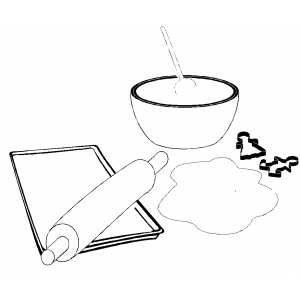 coloring pages of baking - photo#24