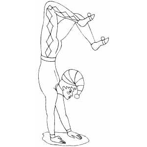 Acrobat Standing On Hands Coloring Page