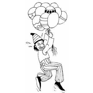 circus balloons coloring pages - photo#21