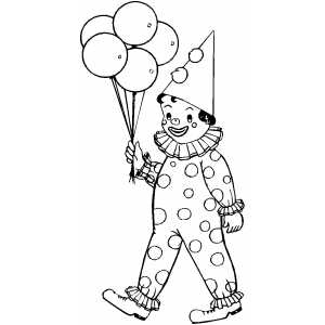 circus balloons coloring pages - photo#14