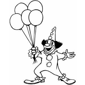 circus balloons coloring pages - photo#11