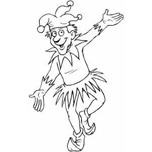 free coloring pages of jesters - photo#5