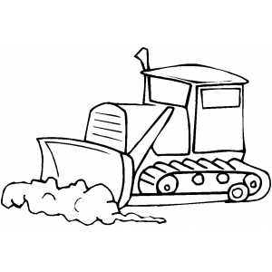 how to draw a easy bulldozer