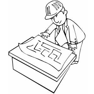 Foreman Reading Planes Coloring Page