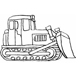 Standing Bulldozer Coloring Page