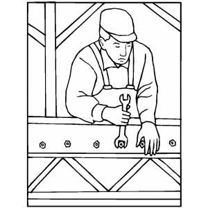 construction worker coloring page retrocoloring - Construction Worker Coloring Page