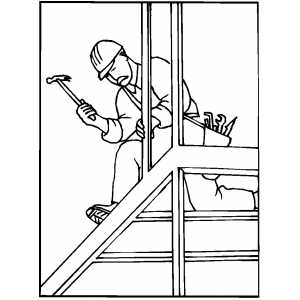 construction worker coloring pages - construction worker coloring sheet bed mattress sale