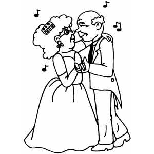 Dancers in love coloring page for I love dance coloring pages