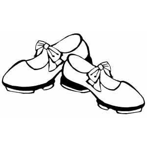 Dancing Shoes Coloring Page