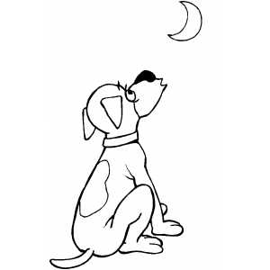 Airplane Coloring Sheets on Howling Dog Coloring Page