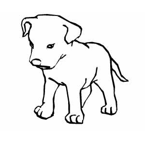 puppy coloring sheets on sad puppy coloring page