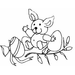 Bunny And Eggs coloring page