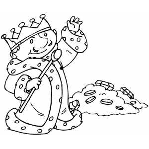 K Is For King Coloring Page king with scepter near gold coloring page king with scepter near gold ...