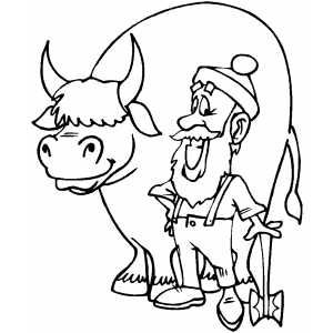 free paul bunyan coloring pages - photo#5