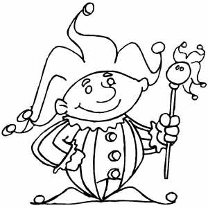 free coloring pages of jesters - photo#11