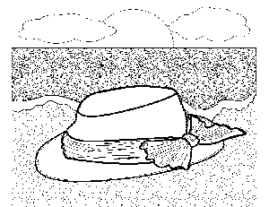 Get Free High Quality HD Wallpapers Beach Hat Coloring Page