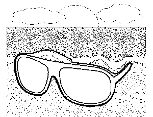 printable sunglasses coloring pages | Sunglasses on the Beach 3 Coloring Page