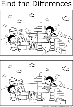 FTD Kids And Blocks Coloring Page
