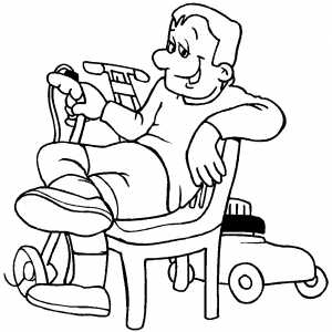 resting coloring pages - photo#1