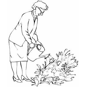 Coloring pictures of old people coloring pages for Old lady coloring page