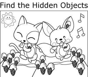 hidden objects Colouring Pages (page 3)